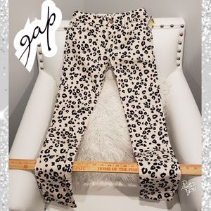 12 super skinny girls gap Jean's pants leopard